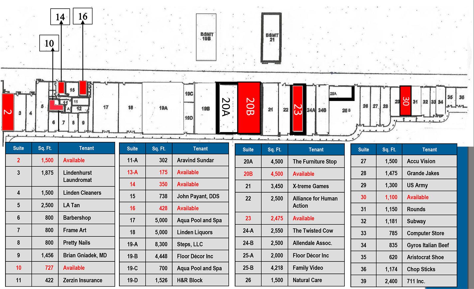 Linden Plaza site plan - Linden Plaza