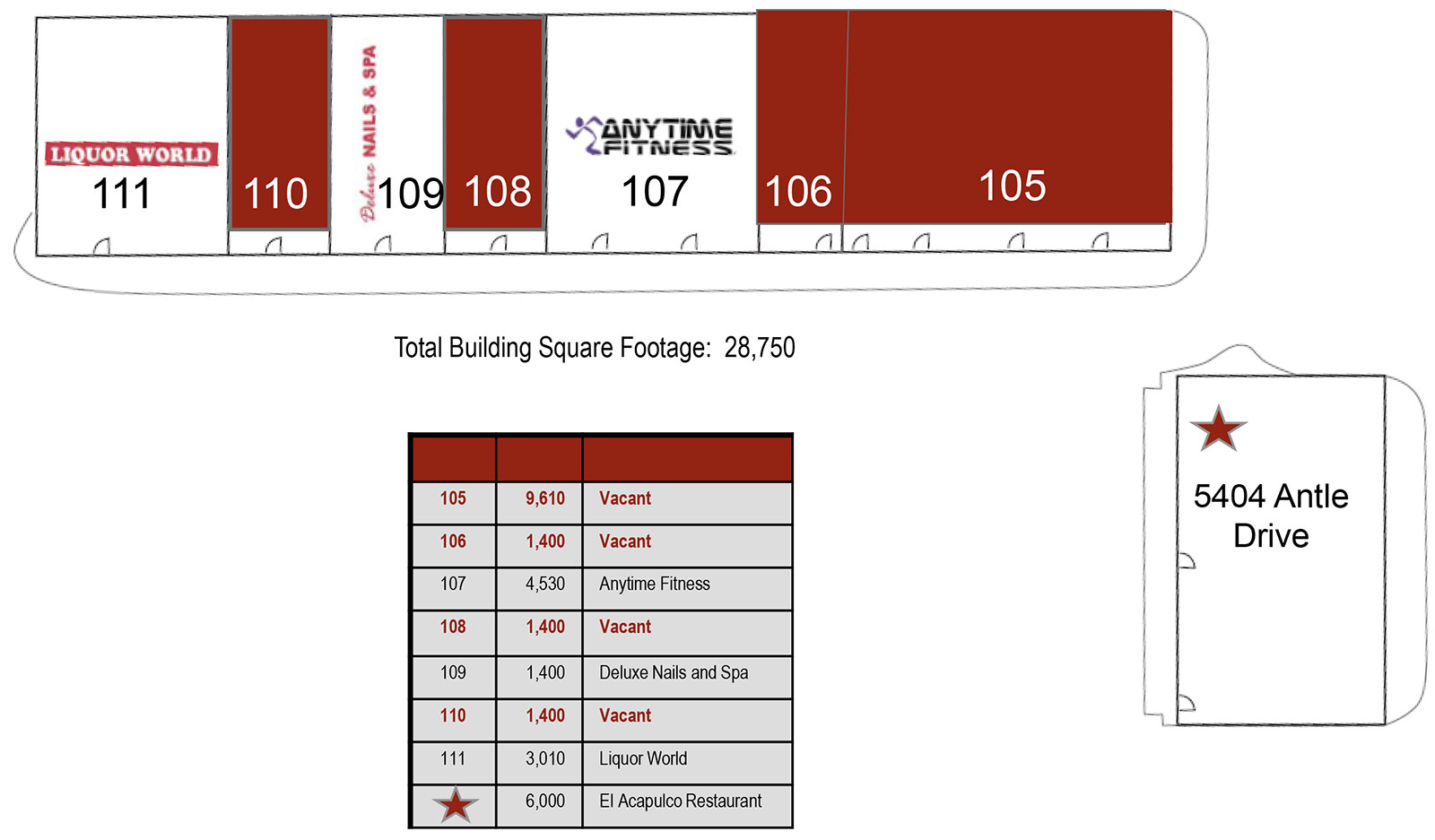 Preston Plaza site plan