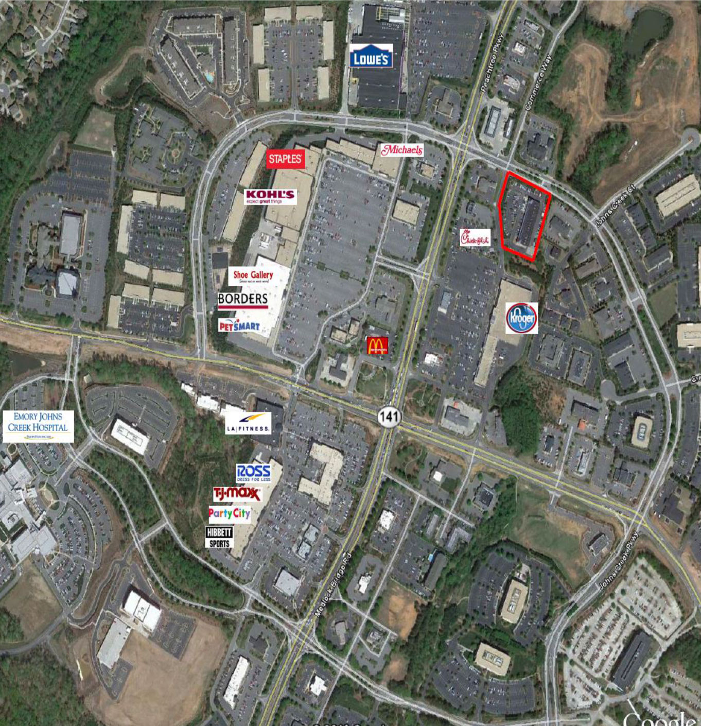 Shops-at-Johns-Creek-Aerial-view - Altus Commercial Real