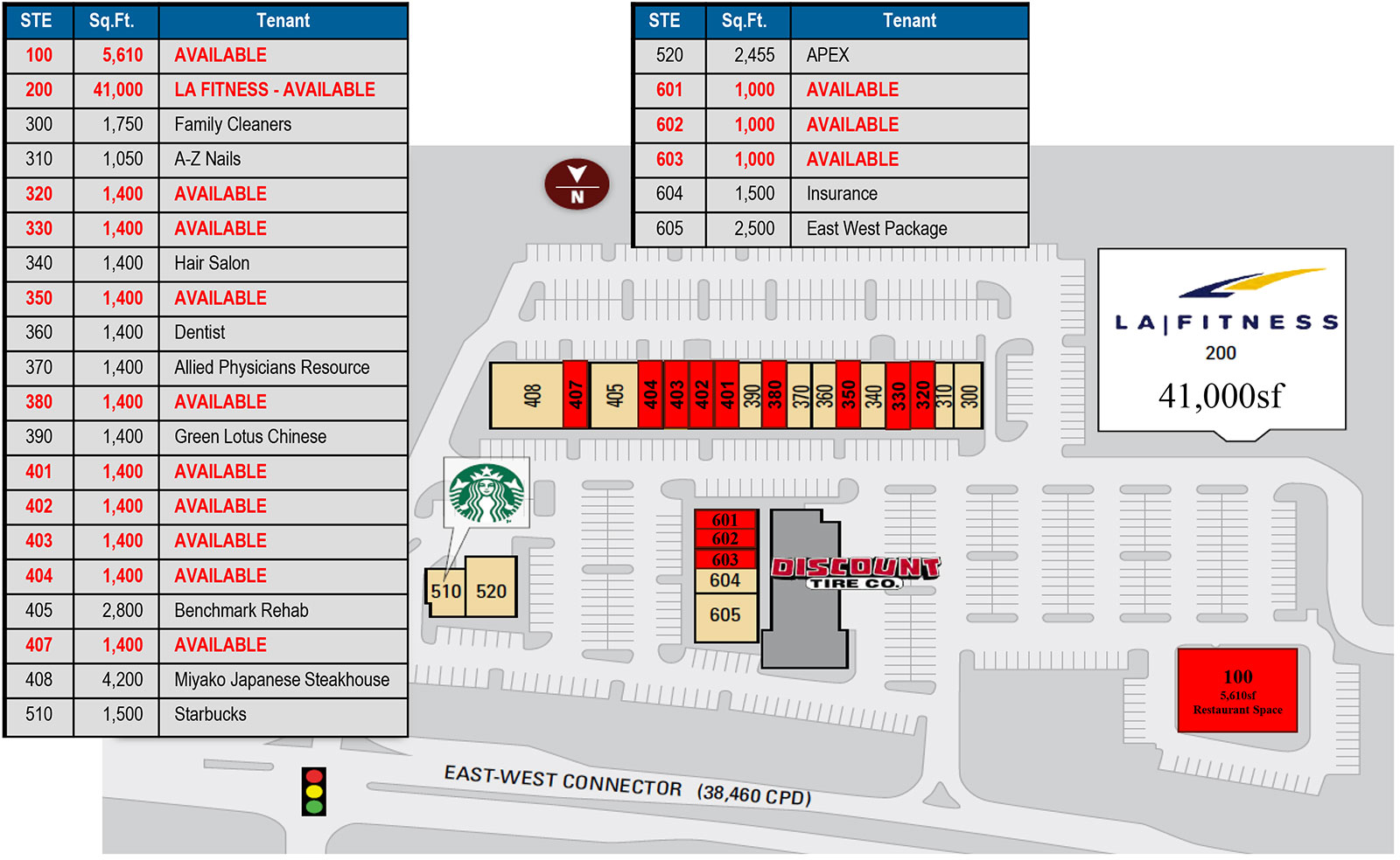 East West Shops site plan