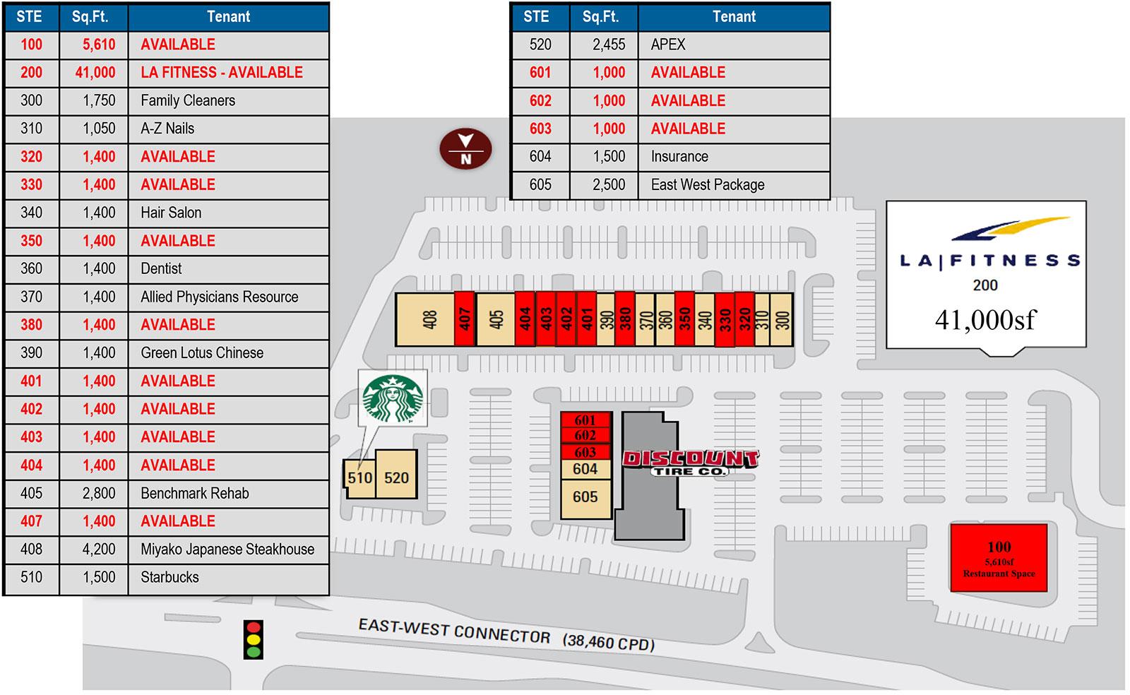 East West Shops site plan - East West Shops