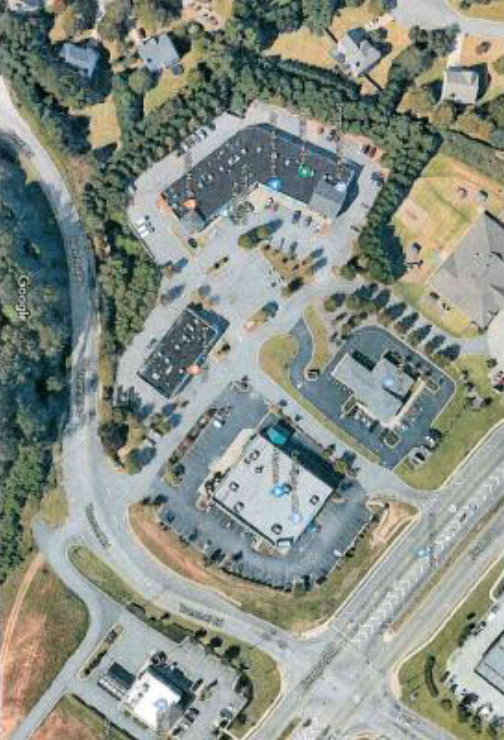 Shoppes-at-Trammel-aerial - Altus Commercial Real Estate Atlanta